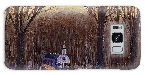 Church In The Woods  Galaxy Case