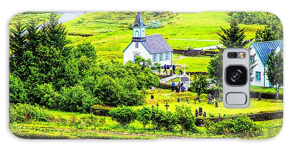 Church On The Green Galaxy Case by Rick Bragan
