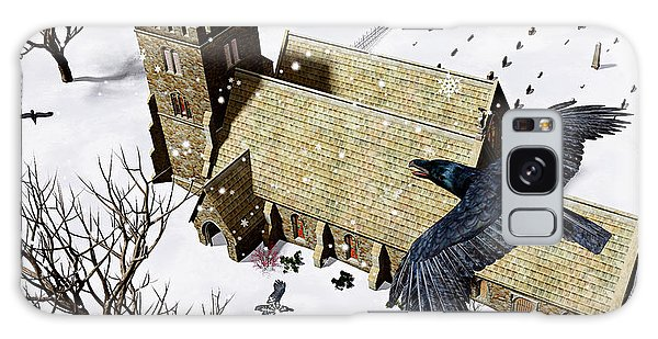 Church Ravens Galaxy Case by Peter J Sucy