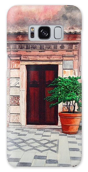 Church Side Door - Taormina Sicily Galaxy Case by Mike Robles
