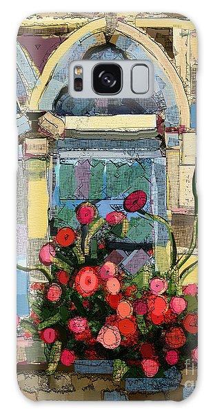 Church Window Galaxy Case by Carrie Joy Byrnes