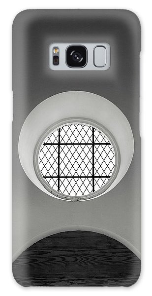 Church Window In Black And White Galaxy Case