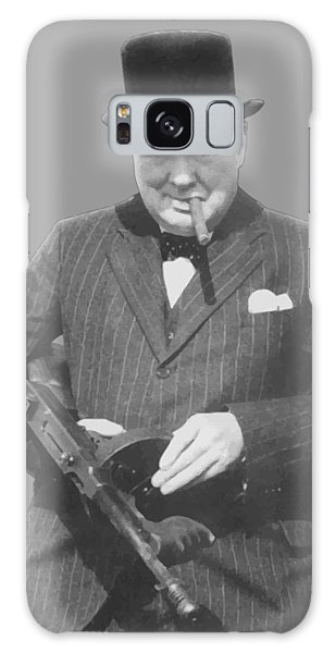 Heroes Galaxy Case - Churchill Posing With A Tommy Gun by War Is Hell Store