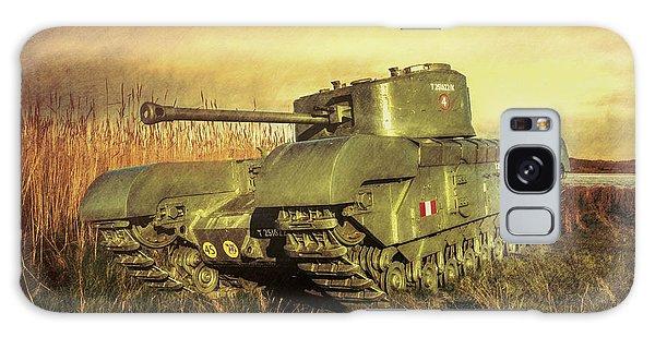 Churchill Tank Galaxy Case by Roy McPeak