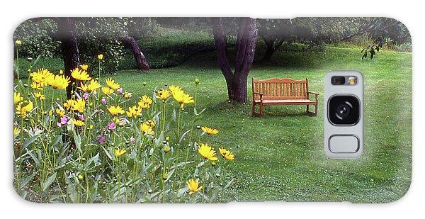 Churchyard Bench - Woodstock, Vermont Galaxy Case