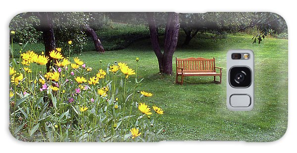 Churchyard Bench - Woodstock, Vermont Galaxy Case