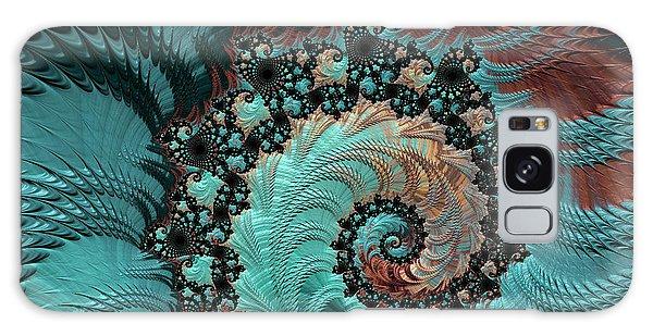 Churning Sea Fractal Galaxy Case by Bonnie Bruno