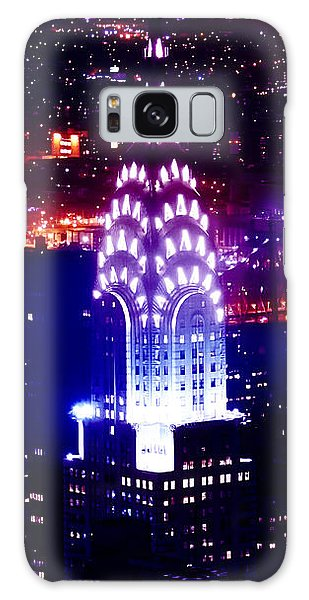 Chrysler Building Galaxy S8 Case - Chyrsler Lights by Az Jackson