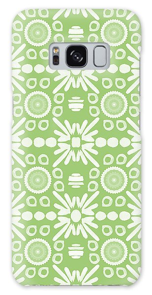 Repeat Galaxy Case - Cilantro- Green And White Art By Linda Woods by Linda Woods