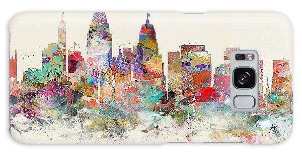 City Map Galaxy Case - Cincinnati City Skyline by Bri Buckley