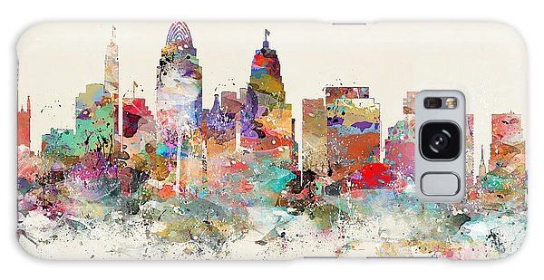 Cincinnati City Skyline Galaxy Case by Bri B