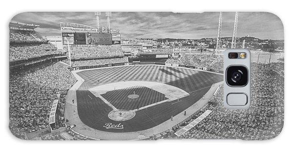 Cincinnati Reds Great American Ballpark Creative 6 Black White Galaxy Case