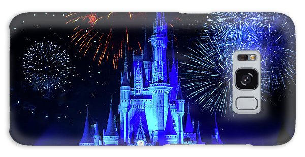 Cinderella Castle Fireworks Galaxy Case
