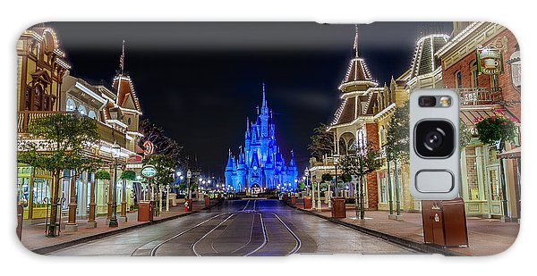 Cinderella Castle Glow Over Main Street Usa Galaxy Case
