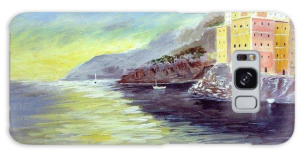 Cinque Terre Dreams Galaxy Case by Larry Cirigliano
