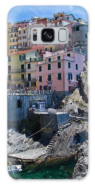 Cinque Terre Harbor And Town Galaxy Case