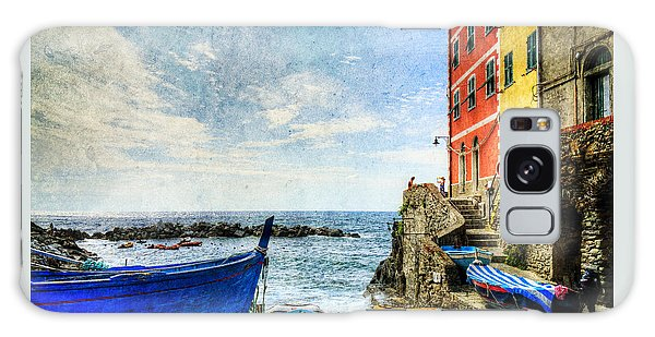 Cinque Terre - Little Port Of Riomaggiore - Vintage Version Galaxy Case