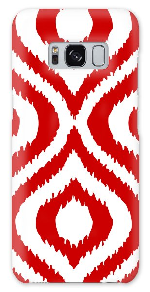 Circle And Oval Ikat In White T02-p0100 Galaxy Case