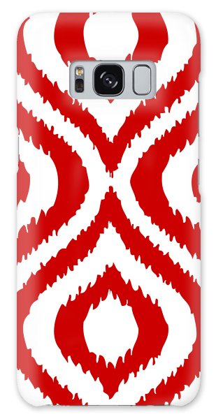 Any Galaxy Case - Circle And Oval Ikat In White T02-p0100 by Custom Home Fashions