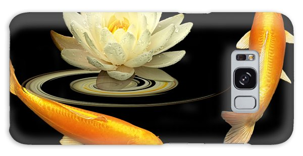 Circle Of Life - Koi Carp With Water Lily Galaxy Case