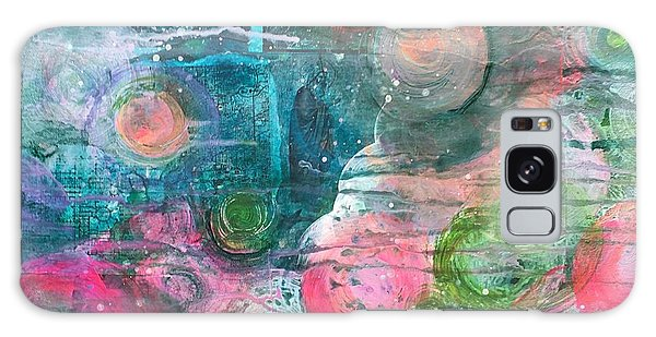 Galaxy Case featuring the painting Circles For San Marco  by Laurie Maves ART