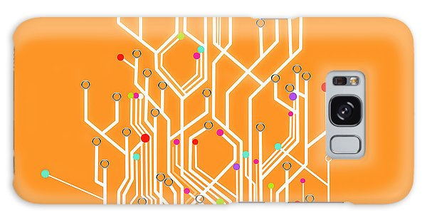 Circuit Board Graphic Galaxy Case by Setsiri Silapasuwanchai