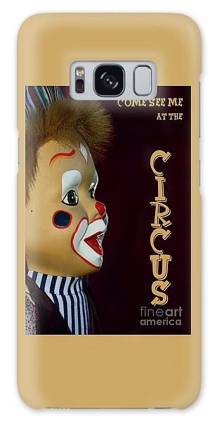 Galaxy Case featuring the photograph Circus Clown By Kaye Menner by Kaye Menner