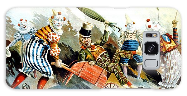 Circus Clowns - Vintage Circus Advertising Poster Galaxy Case