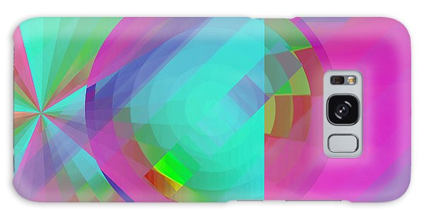 Galaxy Case featuring the digital art Circus Multiforms Bright by Joy McKenzie
