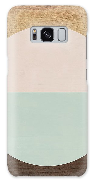 Cirkel In Peach And Mint- Art By Linda Woods Galaxy Case by Linda Woods