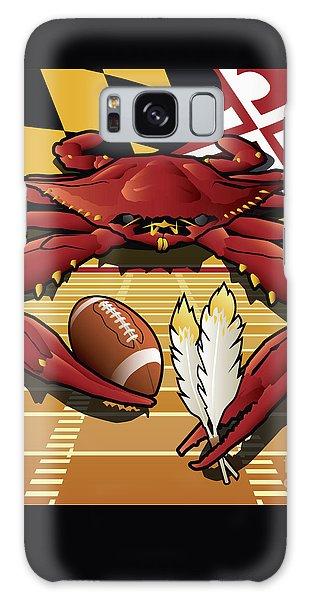 Citizen Crab Redskin, Maryland Crab Celebrating Washington Redskins Football Galaxy Case