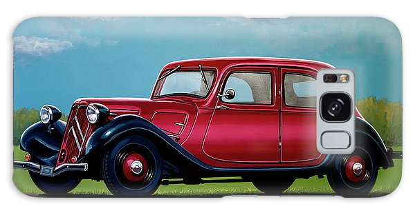 Coupe Galaxy Case - Citroen Traction Avant 1934 Painting by Paul Meijering