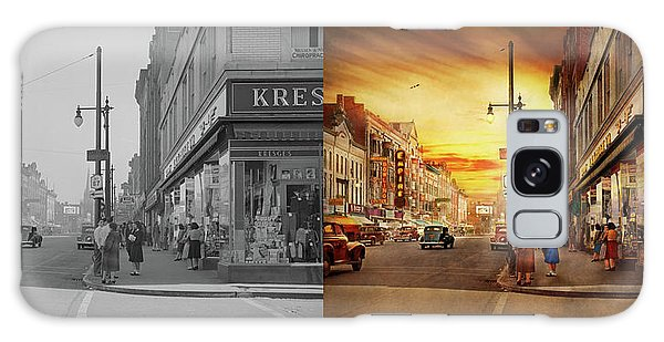 Galaxy Case featuring the photograph City - Amsterdam Ny - The Lost City 1941 - Side By Side by Mike Savad