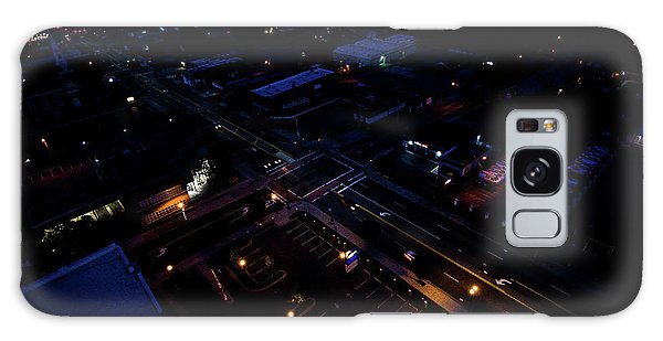 City At Night From Above Galaxy Case