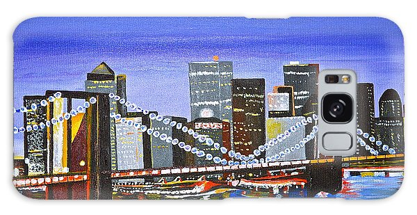 City At Twilight Galaxy Case