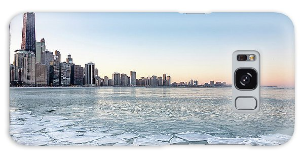 City By The Frozen Lake Galaxy Case