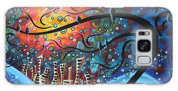 Abstract Landscape Galaxy Case - City By The Sea By Madart by Megan Duncanson