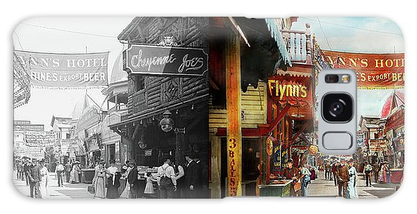 City - Coney Island Ny - Bowery Beer 1903 - Side By Side Galaxy Case by Mike Savad