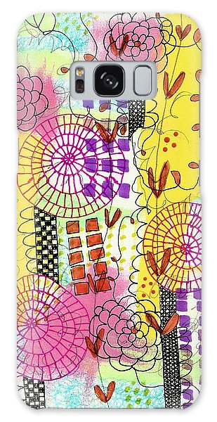 City Flower Garden Galaxy Case by Lisa Noneman