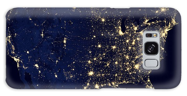 City Lights Of The United States Galaxy Case