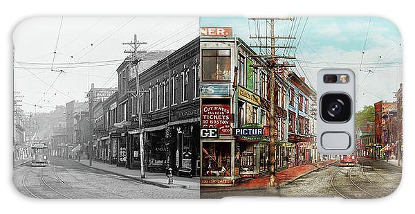 Galaxy Case featuring the photograph City - Ma Glouster - A Little Bit Of Everything 1910 - Side By Side by Mike Savad