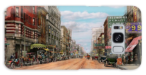 City - Memphis Tn - Main Street Mall 1909 Galaxy Case by Mike Savad