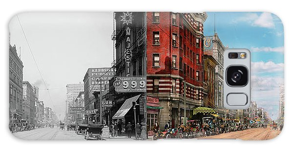 City - Memphis Tn - Main Street Mall 1909 - Side By Side Galaxy Case by Mike Savad