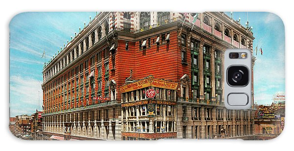 Galaxy Case featuring the photograph City - Ny New York - The Nation's Largest Dept Store 1908 by Mike Savad