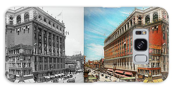 Galaxy Case featuring the photograph City - Ny New York - The Nation's Largest Dept Store 1908 - Side by Mike Savad