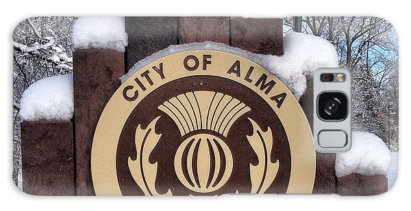 City Of Alma Michigan Snow Galaxy Case