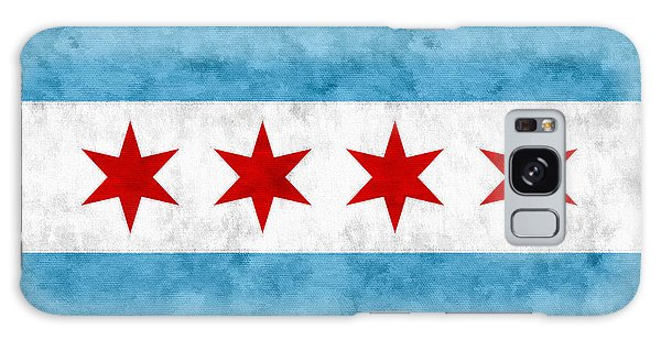 City Of Chicago Flag Galaxy Case
