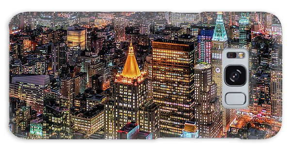 City Of Lights - Nyc Galaxy Case by Rafael Quirindongo