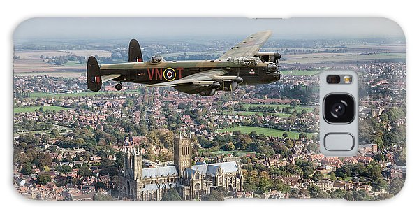 Galaxy Case featuring the photograph City Of Lincoln Vn-t Over The City Of Lincoln by Gary Eason