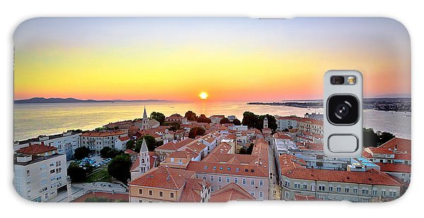 City Of Zadar Skyline Sunset View Galaxy Case